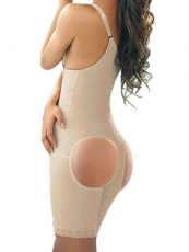 Slimming Mesh Butt Lift Shaper Front Zipper Body Shaper