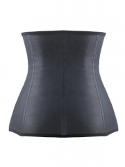 Three Zipper Smooth Latex Steel Boned Waist Training Corset