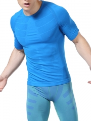 Mens Waist Trainer Fitness T Shirt Compression Undershirts