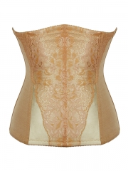 Steel Boned Waist Training Corset Overlay Lace Body Shaper