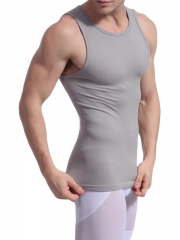 Breathable Mens Waist Trainer Tank Tops Shirt Body Shaper