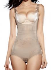 Women Skin Mesh Lace Shapewear Control Tummy Body Shaper
