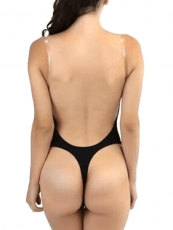 Sexy Black Deep V Body Shaper Backless One Piece Shaper