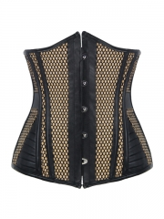Breathable Leather Corset Steel Boned Waist Training Corsets