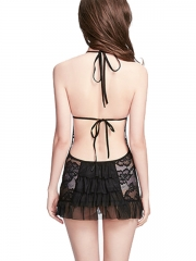 Front Hook Intimate Lace Lingerie Sheer Babydolls For Women