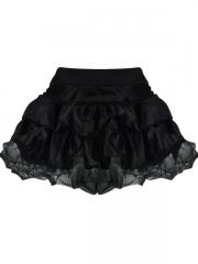 Women Black Falbala Elastic Bustier Skirt Corset TUTU Dress