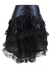 Beautiful Lace Trim Skirt Corset TUTU Dress With Zipper