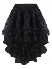 Elegant Black Middle Skirt Satin Corset TUTU Dress Wholesale