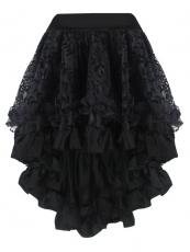 Elegant Black Middle Skirt Satin Corset TUTU Dress Wholesale