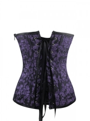 Fashion Floral Bustier Halter Leather Corset Tops Wholesale