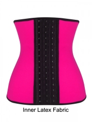 4 Steel Boned Inner Latex Shaper Waist Training Corset