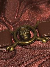 Retro Brocade Leather Steel Boned Underbust Steampunk Corset
