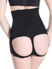 Black High Waist 4 Steel Boned Butt Lift Shaper Wholesale