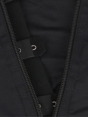 Clips And Zip Black Latex Bodysuit Tummy Control Body Shaper