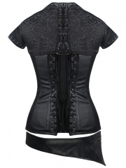 Gothic Leather Bustier 12 Steel Boned Steampunk Corset Tops