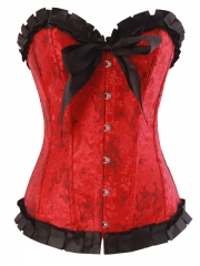Gothic Red Women Chic Corset Outwear Top