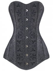 Plus Sizes Jacquard Long Torso 12 Steel Boned Corset Tops