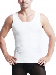 White Mens Waist Trainer Sport Sleeveless Vest Body Shaper