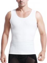 White Mens Waist Trainer Sport Sleeveless Vest Body Shaper