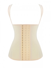 Latex Shaper 4 Steel Boned Corset Waist Cincher Vest