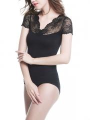 Women Short Sleeve Shapewear Lace Body Shaper Wholesale