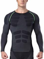 Long Sleeve Mens Body Shaper Sports Waist Trainer Shapewear