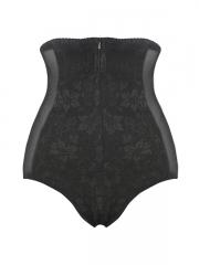 4 Steel Boned Lace Sheer Body Shaper Underpants With Zip