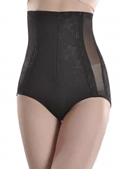 4 Steel Boned Lace Sheer Body Shaper Underpants With Zip