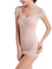 Slimming Short Sleeve Bodysuits Lace Body Shaper Wholesale