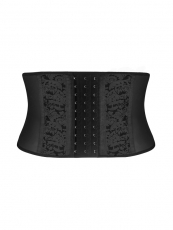 Lace Short Torso 9 Steel Boned Latex Waist Cincher Corset