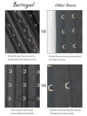 Lace Short Torso 9 Steel Boned Latex Waist Cincher Corset