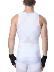 Zip n Clips Men Waist Trainer Tank Tops Vest Body Shaper