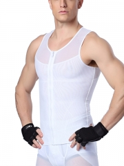 Zip n Clips Men Waist Trainer Tank Tops Vest Body Shaper