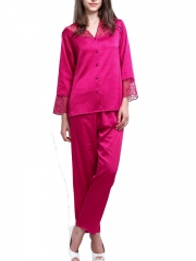 Soft Silk Long Sleeve Nightgown Set Gown Robes Wholesale