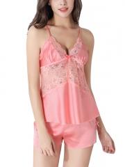 Sexy Women Silk Sleepwear Nightgown Set Babydolls Wholesale