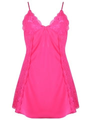 Silk Lace V neck Nightgown Sleepwear Backless Babydolls