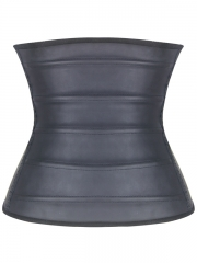 Tummy Control 14 Steel Boned Latex Waist Trainer With 3 Zip