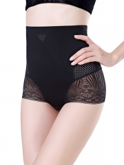 High Waist Shapewear Steel Boned Lace Body Shaper Wholesale