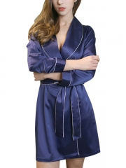 Womens Kimono Pure Silk Gowns Robes Sleepwear Wholesale