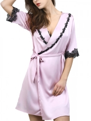 Sexy Women Silk Bathrobes Gowns Robes Lingerie Wholesale
