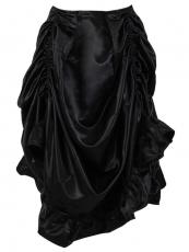 Women Gothic Steampunk Skirts Long Ruffle Corset TUTU Dress