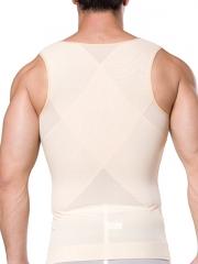 Mens Clips n Zipper Body Shaper Sleeveless Tank Top Shirts