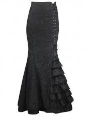 Women Jacquard Gothic Steampunk Skirts Corset TUTU Dresses