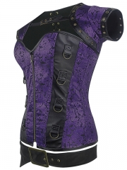 Womens Gothic Leather Steampunk Steel Boned Corset Tops