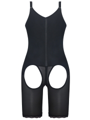 Slim Latex Full Bodysuit Butt Lift Body Shaper With Zipper