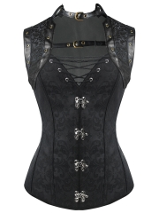 Women 10 Steel Boned Gothic Steampunk Corset Tops Wholesale