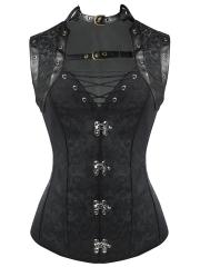 Women 10 Steel Boned Gothic Steampunk Corset Tops Wholesale