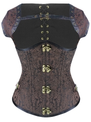 18 Steel Boned Gothic Steampunk Dooby Underbust Corsets