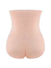 Women Stripe High Waist Shapewear 2 Steel Boned Body Shaper