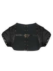 Plus Size Short Sleeve Gothic Steampunk Corset Jacket Bolero